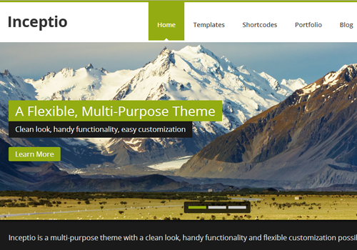 inceptio wordpress premium responsive theme