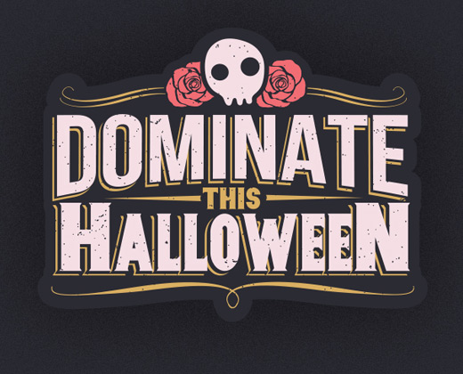 dominate halloween logo illustration