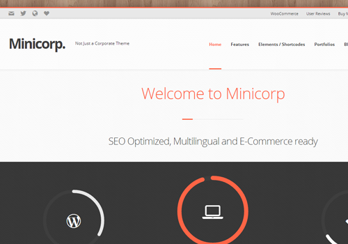 minicorp minimalist wordpress theme