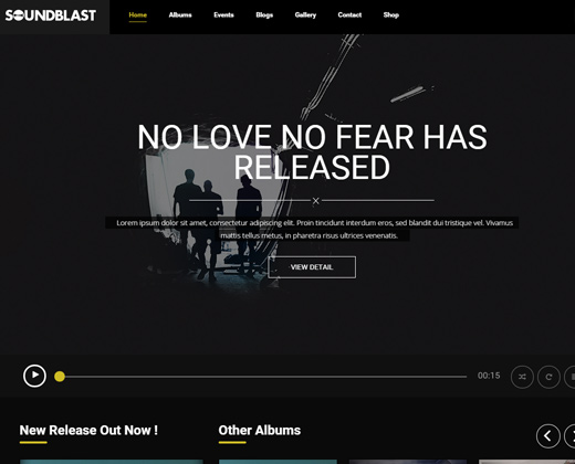 soundblast wordpress theme music band