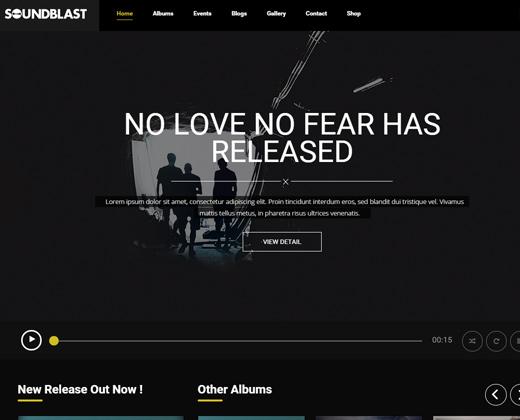 soundblast wordpress theme music band