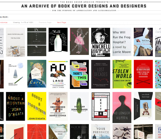 retro website book cover archive design