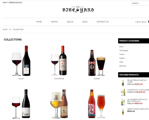 wineyard shopify premium theme responsive