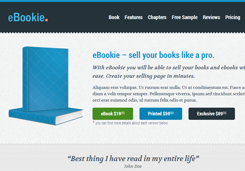 wordpress ebookie sales blog template theme