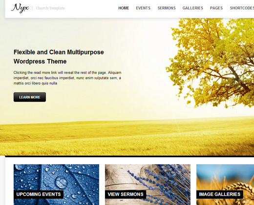 nyx responsive church premium theme