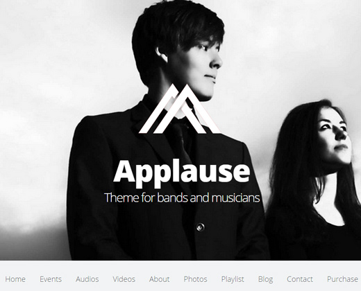 applause onepage responsive wordpress theme