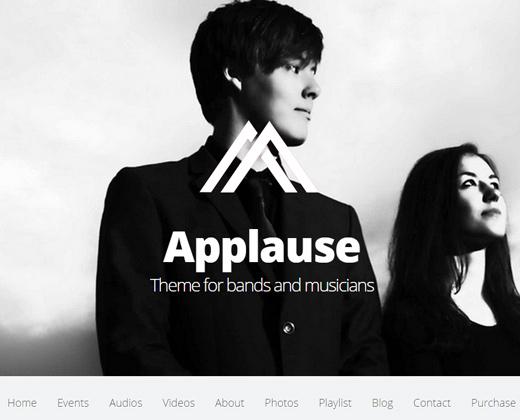 applause onepage responsive wordpress theme