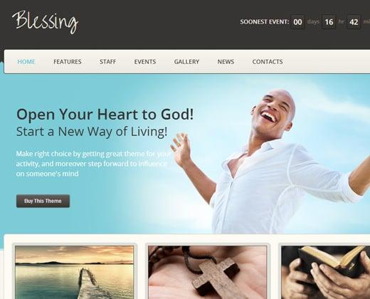 blessing premium responsive wordpress church theme