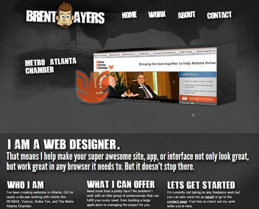 dark brent ayers website portfolio