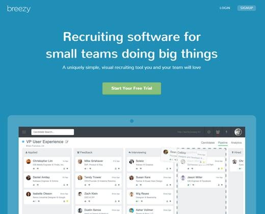 breezy hr startup recruiting