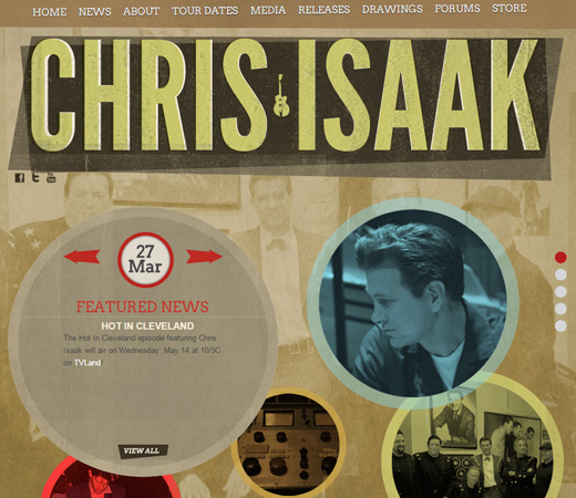 chris isaak personal retro portfolio website