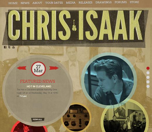 chris isaak personal retro portfolio website
