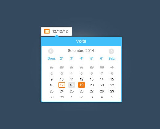 datepicker v2 ui design