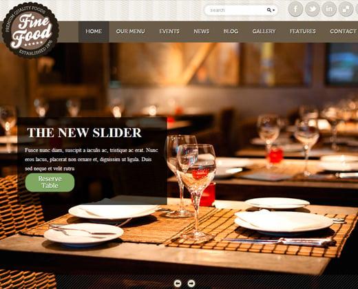 fine food restaurant responsive theme