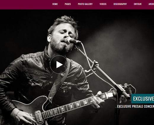 jamsession music band wordpress theme