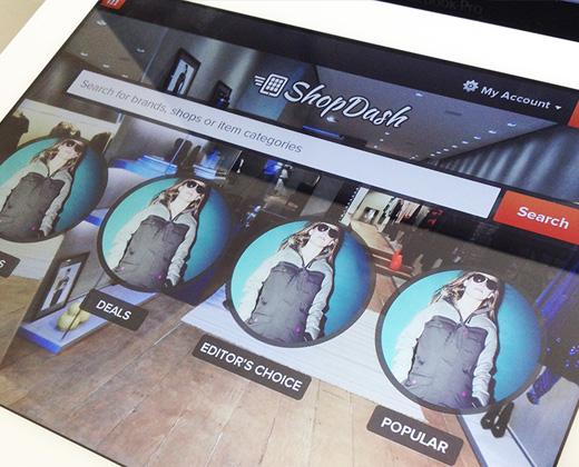 shopdash dashboard shopping app ui