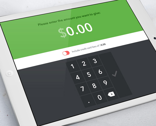 simple green app ui donations