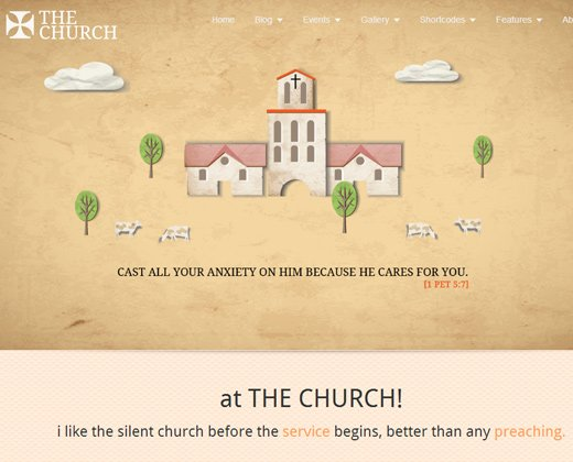 brown texture the church wordpress theme