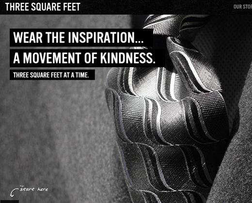 three square feet shopify website design
