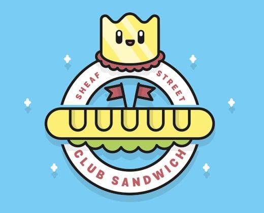 club sandwich logo illustration