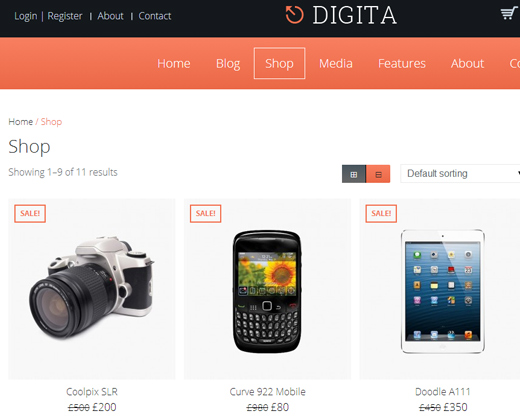 digita ecommerce parallax responsive wordpress theme