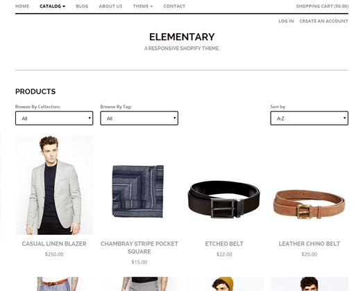 elementary responsive shopify premium theme