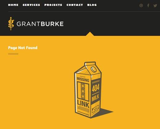 404 error page grant burke