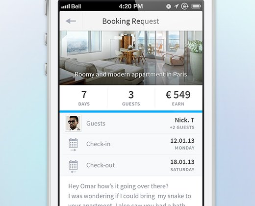 detail app hosting ui iphone