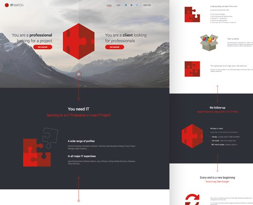 38 most creative landing page website mockups bittbox for It web page