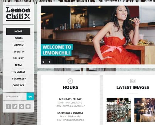 lemon chili premium restaurant wordpress theme