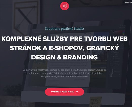 marek levak design dark portfolio layout