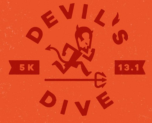 devil's dive logo illustration