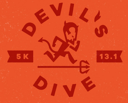 devil's dive logo illustration