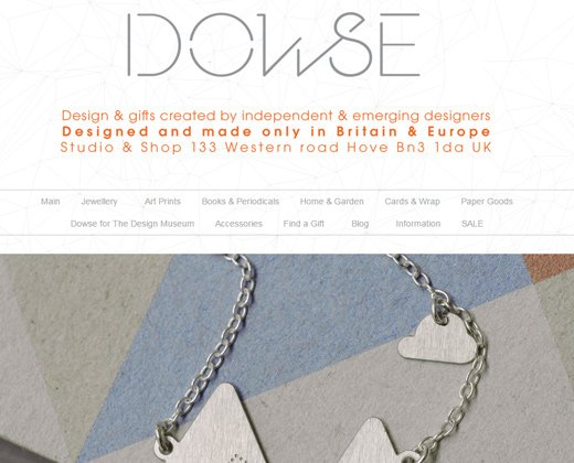 dowse design shopify store website