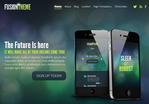 fusion theme template wordpress premium
