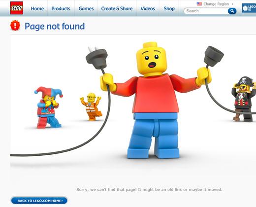 lego 404 error page design