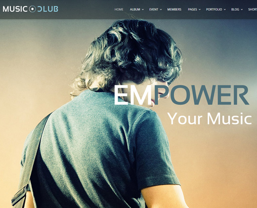music club dj party wordpress theme