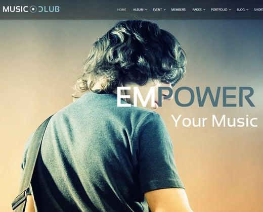 music club dj party wordpress theme