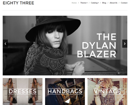 eighty three responsive shopify layout cart