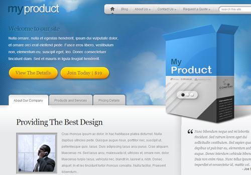 myproduct premium template wordpress theme