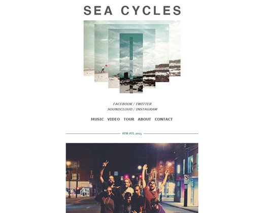 sea cycles band website