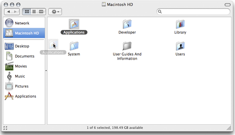 Drag your applications folder to your dock for easy access to all of your istalled apps. Mac OS X