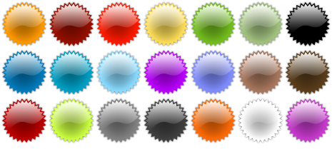 Vector Web 2.0 Badges