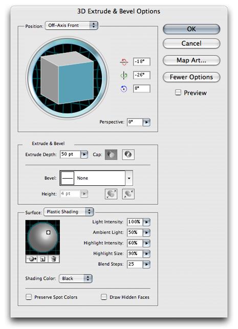 Illustrator 3D 4