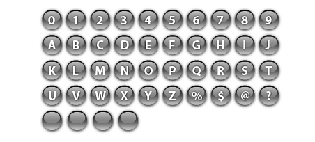 free vector round glass buttons