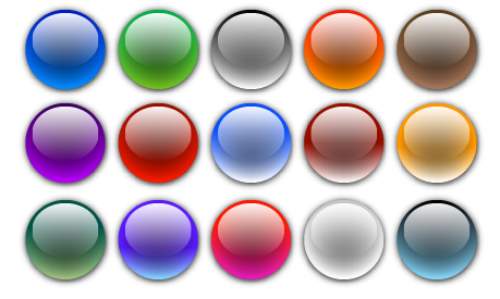 Free Vector Glass Orbs/Balls