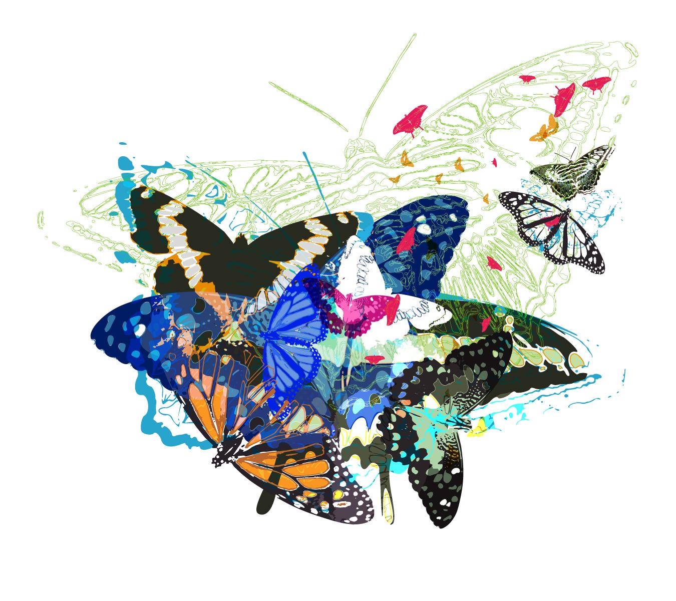 random free vectors part 5 butterflies bittbox