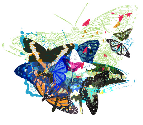 Random Free Vectors Part 5 – Butterflies | BittBox