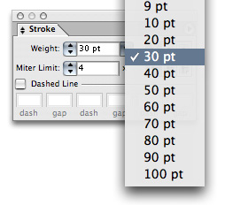 Easy Illustrator Trick: Oversized Stroke