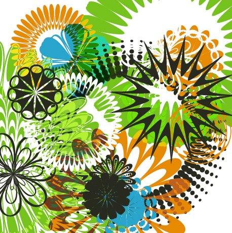 Illustrator Pattern Brushes for Making Flowers and Circular Designs